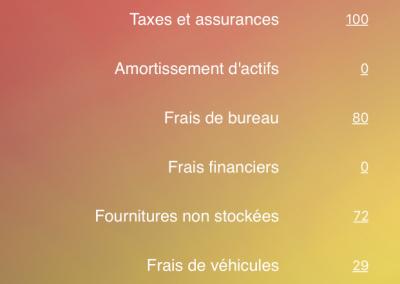 Pro Calcul - Seuil de rentabilité -> Charges fixes