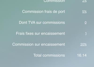 Pro Calcul - Commissions -> Commissions prélevées par type