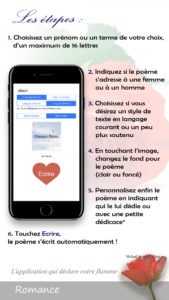 L'application écrit n acrostiche